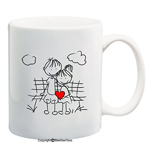 """Best Friends In Love"" Coffee Mug - Valentines Day Gift by BeeGeeTees®"