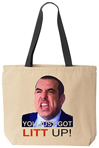 You Just Got Litt Up by Louis Litt! - Funny Canvas Tote by BeeGeeTees