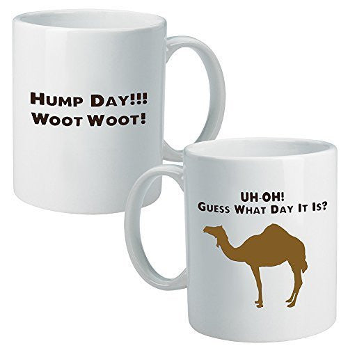 Camel Hump Day Mug Mid-Week Guess What Day It Is Wednesday Funny Commercial BeeGeeTees®