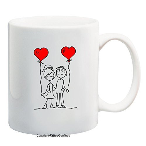 Friends In Love Coffee Mug Valentines Day Gift by BeeGeeTees® (11 oz)