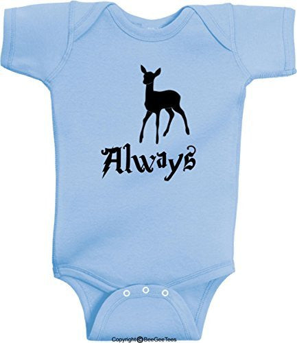 Always Patronus Harry Potter Baby Wizard Onesie by BeeGeeTees® (Baby Boy or Girl)