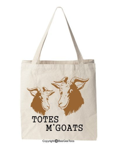 Totes M'Goats - Funny Cotton Canvas Tote Bag - Reusable by BeeGeeTees 00941
