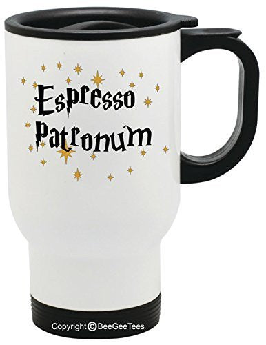 ESPRESSO PATRONUM - Funny Harry Potter Coffee or Tea Cup 11 / 15 oz Mug for Wizards by BeeGeeTees® 01303