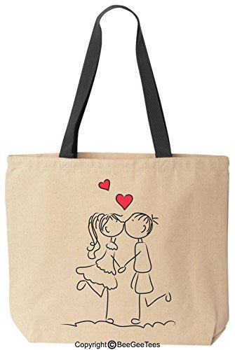 "BeeGeeTees® ""Forever In Love"" Tote - Valentines Day Gift or Wedding Gift"