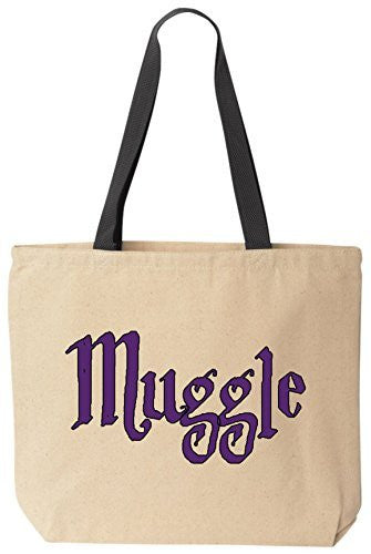 Muggle - Funny Cotton Canvas Tote Wizard Bag - Reusable by BeeGeeTees 01302