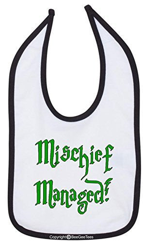 Mischief Managed Bib Funny Baby Shower Gift by BeeGeeTees 00419