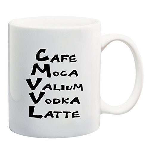 Cafe Mocha Valium - Funny Coffee or Tea Cup 11 / 15 oz Mug by BeeGeeTees 00889