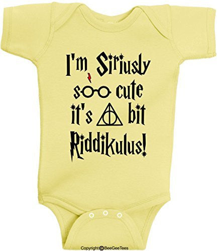 I'm Siriusly Soo Cute It's A Bit Riddikulus Harry Potter Baby Onesie by BeeGeeTees®