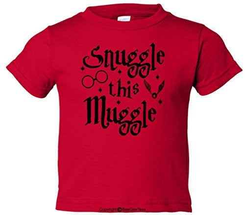 Snuggle This Muggle Harry Potter Funny Toddler T-Shirt (Boys & Girls) by BeeGeeTees®