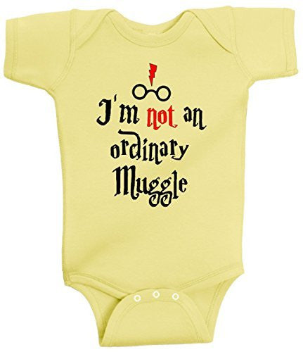 I'm Not An Ordinary Muggle Funny Harry Potter Romper Wizard Onesie by BeeGeeTees®