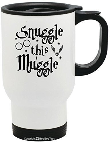 Snuggle This Muggle Funny Harry Potter Travel Mug by BeeGeeTees®