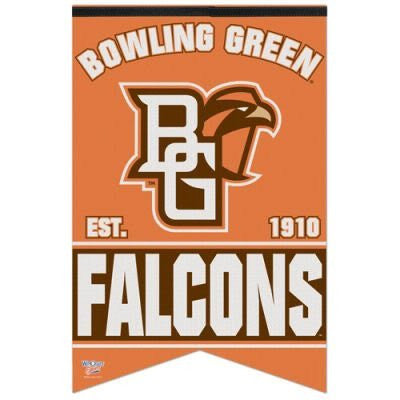 "BOWLING GREEN FALCONS OFFICIAL 26"" FELT BANNER"
