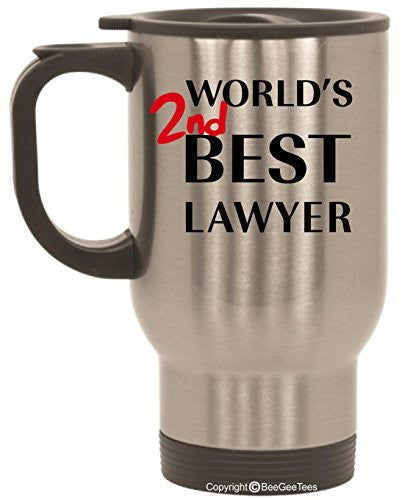 World's 2nd Best Lawyer Better Call Saul Goodman Breaking Bad Travel Mug 14 oz Stainless Steel by BeeGeeTees®