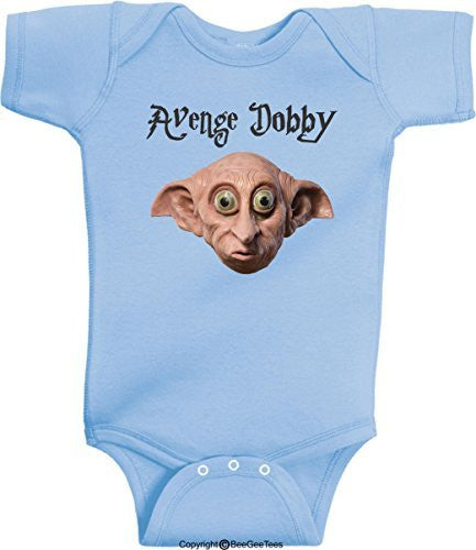 Avenge Dobby Harry Potter Wizard Romper Onesie by BeeGeeTees®