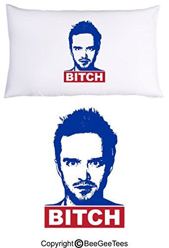BITCH Breaking Bad Pillowcase Birthday Gift by BeeGeeTees® (1 Queen Pillowcase)