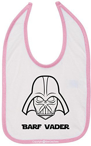 Barf Vader Star Wars Funny Bib Multi-Color Trim by BeeGeeTees®