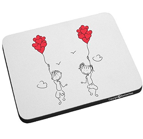 Let's Fly Away Together In Love Mouse Pad - Valentines Day Gift by BeeGeeTees®