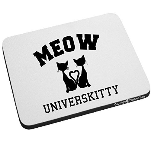 MEOW Universkitty Funny Cat Mouse Pad by BeeGeeTees
