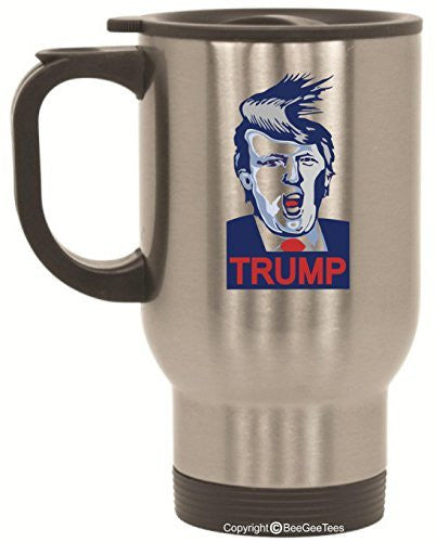 Donald Trump Funny 14 Oz Travel Mug by BeeGeeTees®