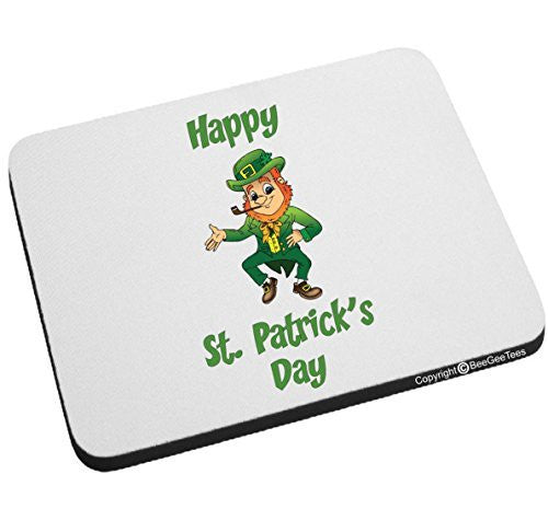 Happy St Patrick's Day Mouse Pad Leprechaun by BeeGeeTees®