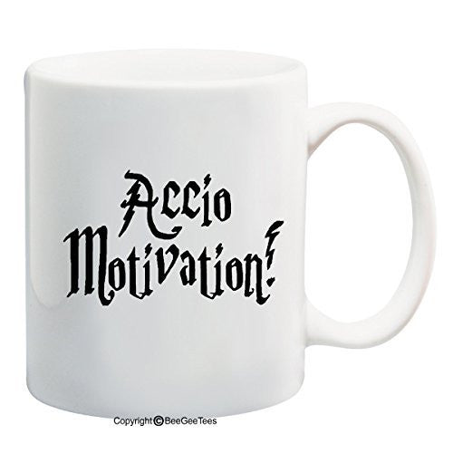 Accio Motivation Harry Potter Funny Coffee Mug Office Tea Cup by BeeGeeTees®