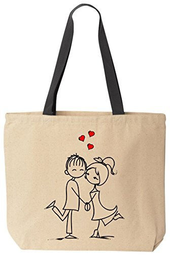 """Crazy In Love"" Tote - Valentines Day Gift Cotton Canvas Bag by BeeGeeTees®"