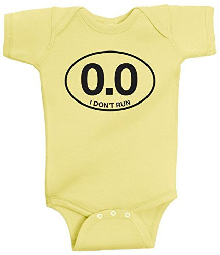 0.0 I Don't Run Funny Anti Running Lazy Marathon Onesie by BeeGeeTees®