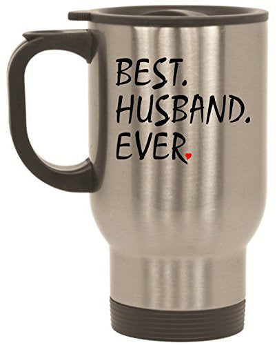 "BeeGeeTees® ""Best Husband Ever"" Travel Mug - 14 oz Stainless Steel To Go Cup"