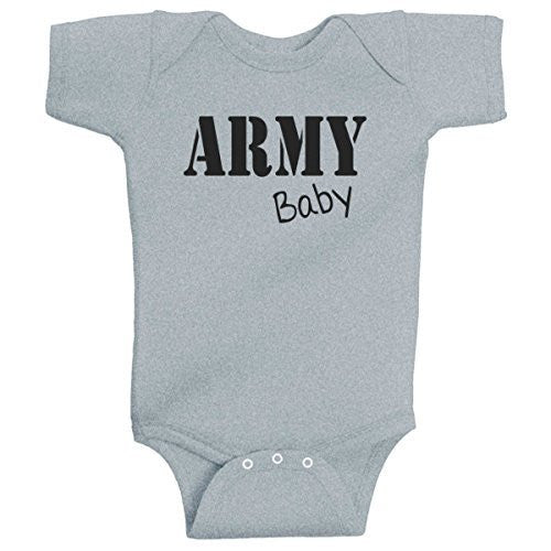 ARMY Baby Infant Bodysuit Onesie Heather Grey by BeeGeeTees®