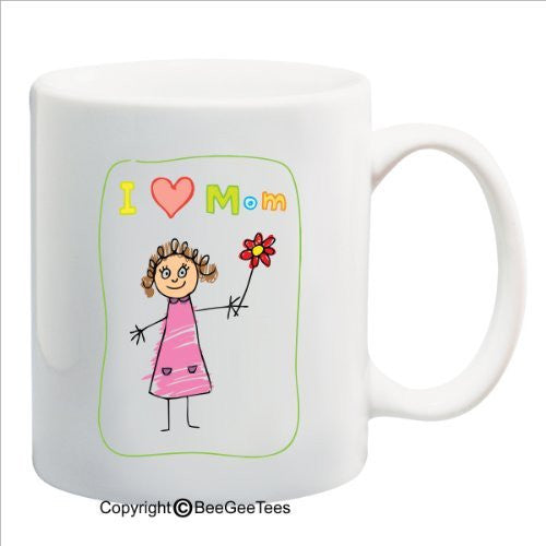 I Heart Mom - Happy Birthday or Mothers Day 15 oz Mug by BeeGeeTees 09749