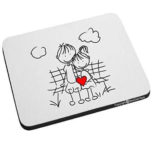 """Best Friends In Love"" Mouse Pad - Valentines Day Gift by BeeGeeTees®"