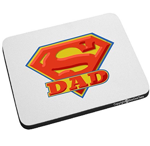Super Dad Super Hero Mouse Pad Happy Fathers Day by BeeGeeTees®
