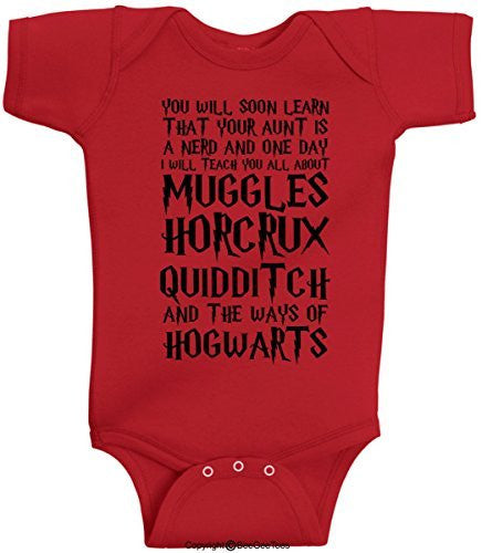 You Will Soon Learn That Your Aunt Is A Nerd Funny Harry Potter Onesie by BeeGeeTees®