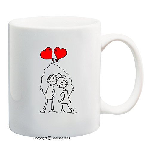 Entangled Hearts In Love Coffee Mug Valentines Day Gift by BeeGeeTees®