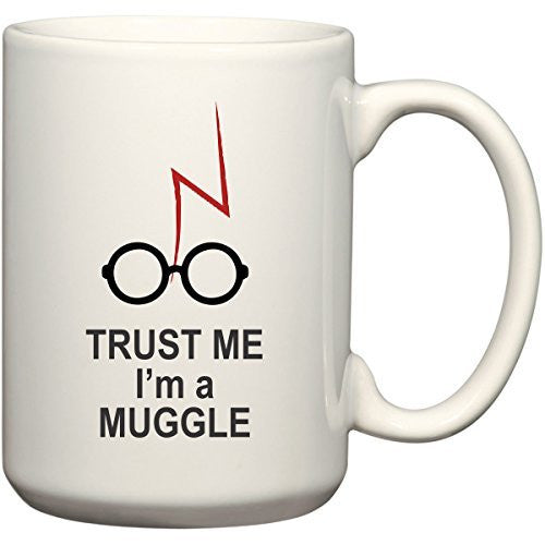 Trust Me I'm A Muggle Harry Potter Coffee Mug for Wizards by BeeGeeTees (15 oz)