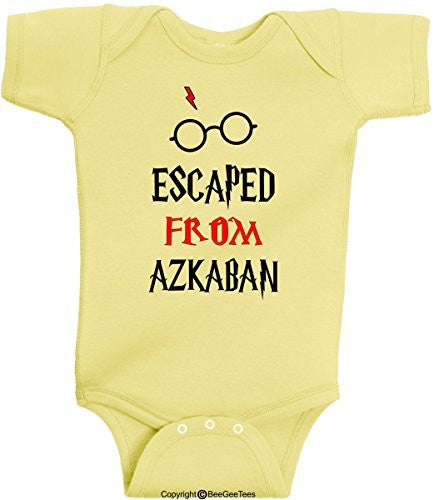 Escaped From Azkaban Funny Harry Potter Baby Wizard Onesie by BeeGeeTees®