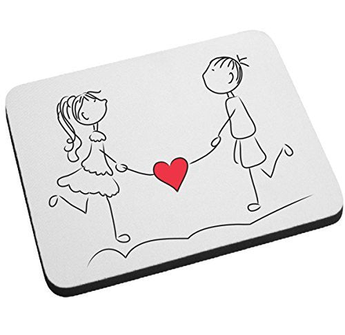 """Walking Hearts"" Couple In Love Mouse Pad Valentines Day Gift BeeGeeTees®"