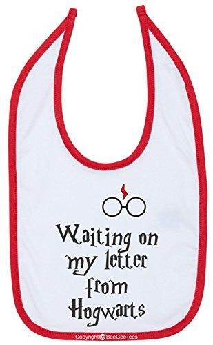 Waiting On My Letter From Hogwarts Harry Potter Funny Bib by BeeGeeTees®