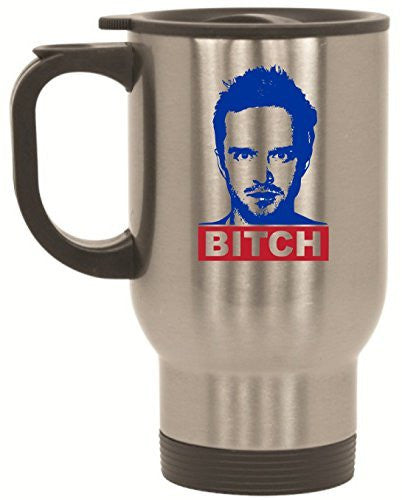 Bitch Breaking Bad Stainless Steel Travel Mug by BeeGeeTees® (14 oz)