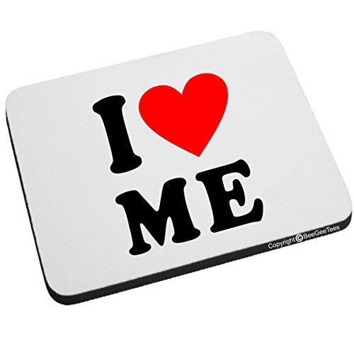 I Love Me Heart Mouse Pad Valentines Day Birthday Gift by BeeGeeTees