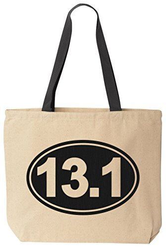 13.1 Half Marathon - Reusabe Tote Bag Black Handle by BeeGeeTees