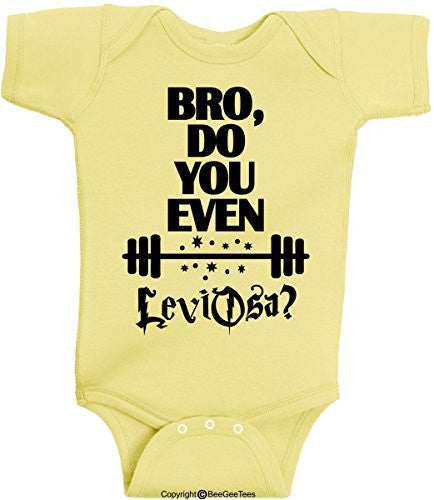 b748fab18 Bro Do You Even Lift LeviOsa Harry Potter Baby Onesie by BeeGeeTees®  (Unisex-