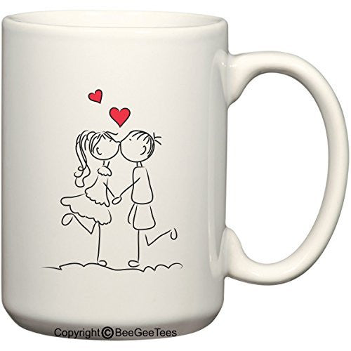 Beegeetees Forever In Love Coffee Mug Valentines Day Gift