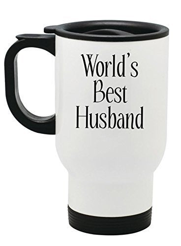 """World's Best Husband"" Travel Mug - 14 oz Stainless Steel by BeeGeeTees®"