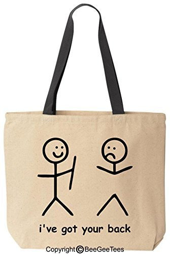 i've got your back Reusable Canvas Bag by BeeGeeTees®
