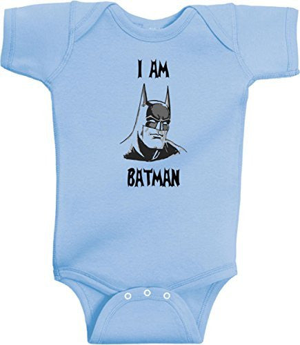 I Am Batman Funny Super Hero Onesie by BeeGeeTees®