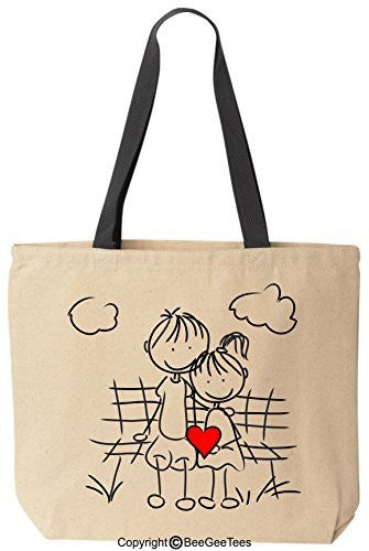 """Best Friends In Love"" Tote - Valentines Day Gift by BeeGeeTees®"