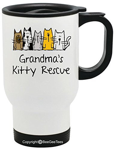 Grandma's Kitty Rescue Coffee or Tea Cup 11 oz or 15 oz Mug by BeeGeeTees®