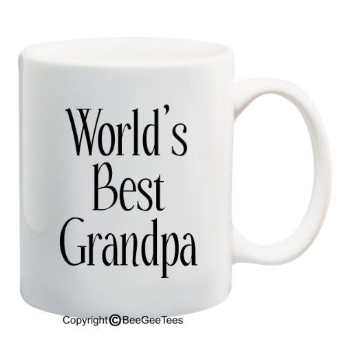 WORLD'S BEST GRANDPA Coffee Mug or Tea Cup by BeeGeeTees