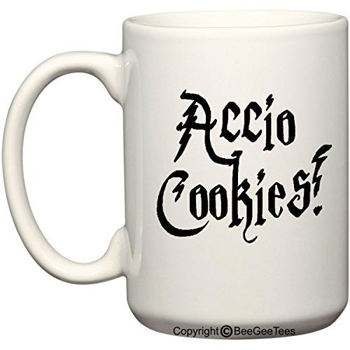 Accio Cookies Harry Potter Funny Coffee Mug Office Tea Cup by BeeGeeTees®